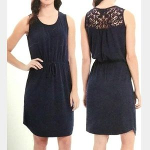🆕Adrienne Vittadini S, Navy Lace Back Mini